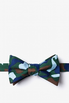 _Street Camo Hunter Green Self-Tie Bow Tie_