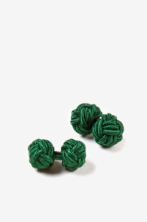 Hunter Green Solid Knot Cufflinks
