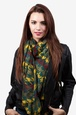 Hunter Green Polyester Veronica Scarf