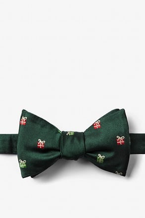 "_""That's a Wrap"" Hunter Green Self-Tie Bow Tie_"