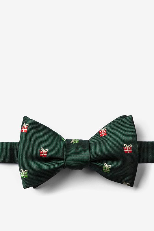 """That's a Wrap"" Hunter Green Self-Tie Bow Tie Photo (0)"