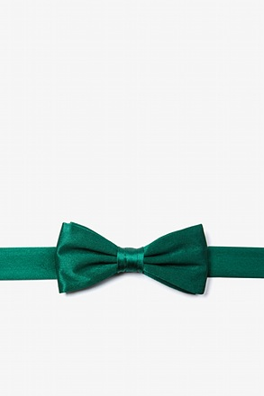 _Hunter Green Bow Tie For Boys_