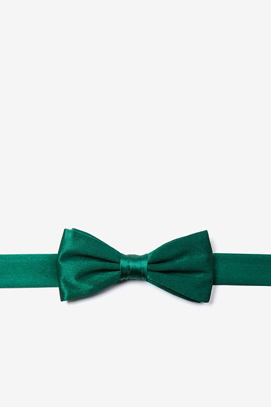 Hunter Green Bow Tie For Boys