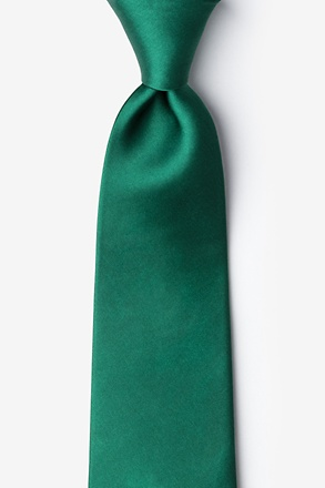 Hunter Green Extra Long Tie