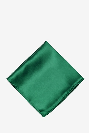 _Hunter Green Pocket Square_