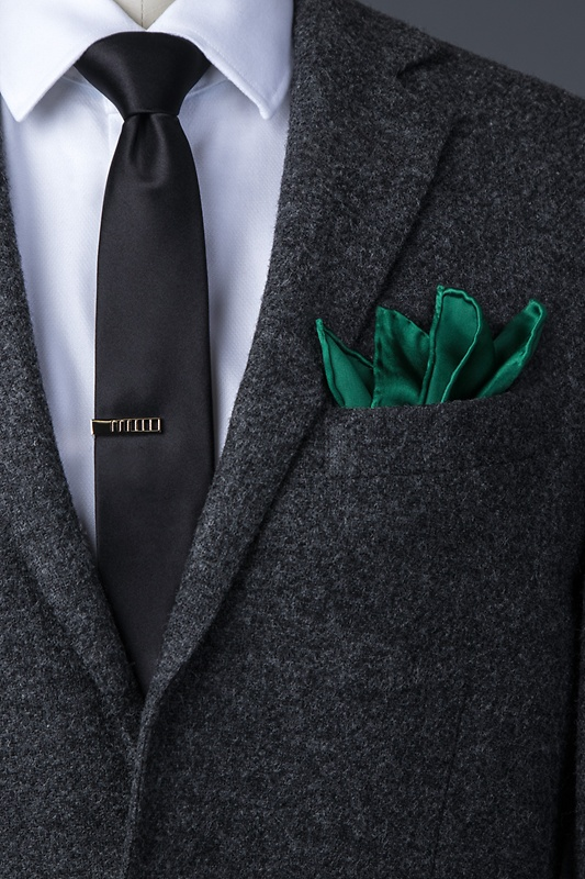 Hunter Green Pocket Square