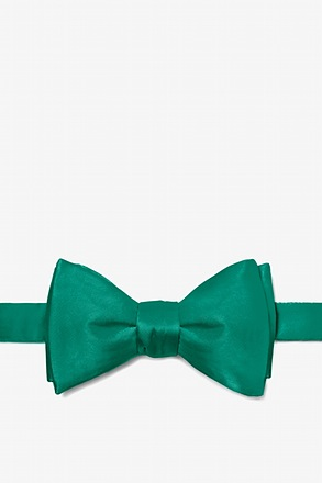 _Hunter Green Self-Tie Bow Tie_