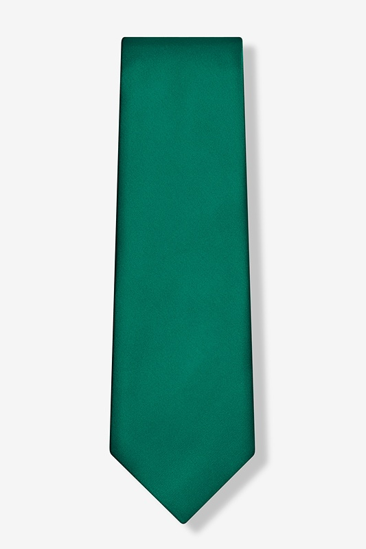 Hunter Green Tie For Boys