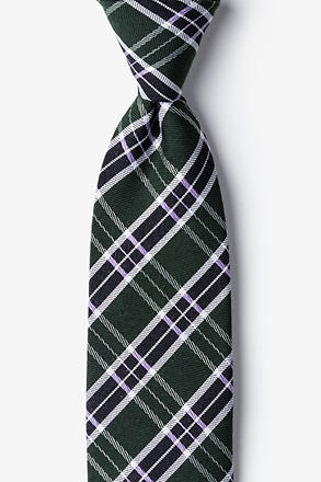 Hunter Green Vienna Plaid Tie