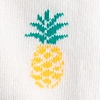 Ivory Carded Cotton Pineapples Sock