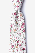 Ivory Cotton Bellevue Extra Long Tie