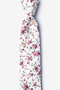 Ivory Cotton Bellevue Skinny Tie