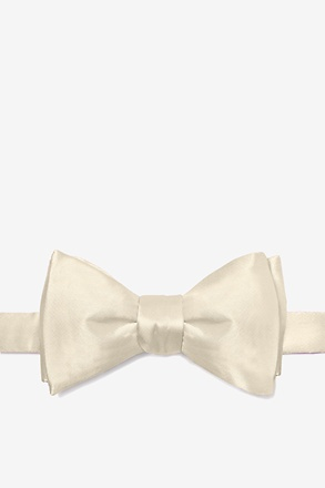Ivory Cream Butterfly Bow Tie
