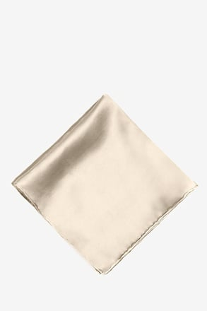 Ivory Cream Pocket Square