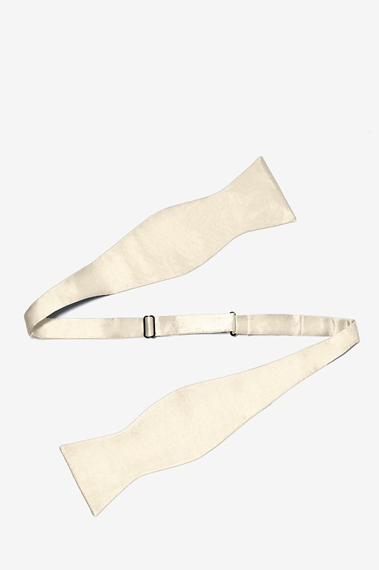 Ivory Cream Self-Tie Bow Tie