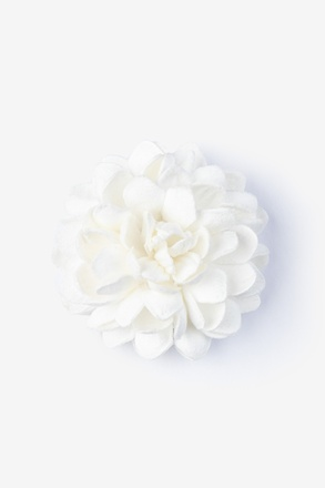 Chrysanthemum Ivory Lapel Pin