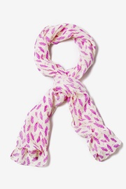 Ivory Polyester Singing In the Rain Scarf