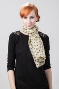 Velvet Bows Scarf by Scarves.com