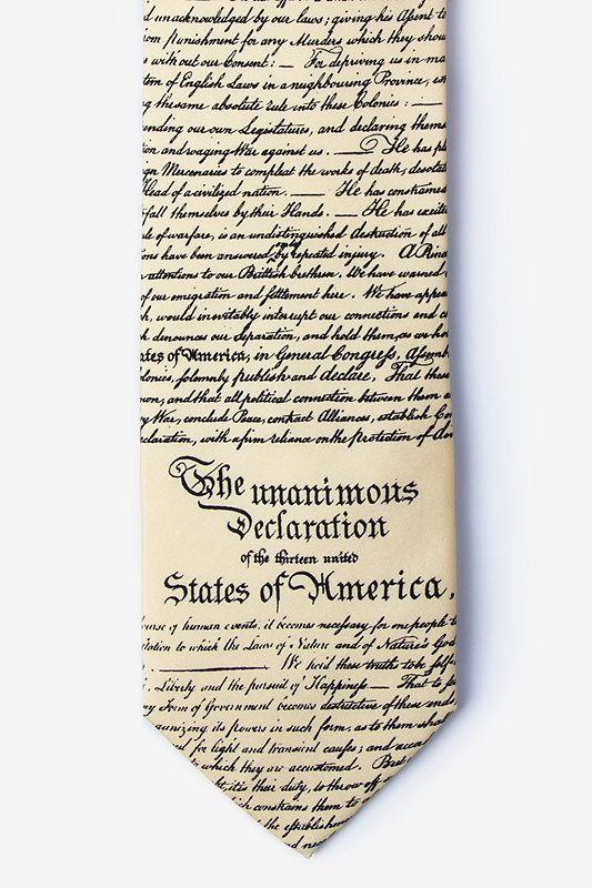Declaration of Independence Ivory Tie Photo (0)