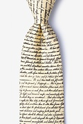 Declaration of Independence Ivory Tie Photo (1)