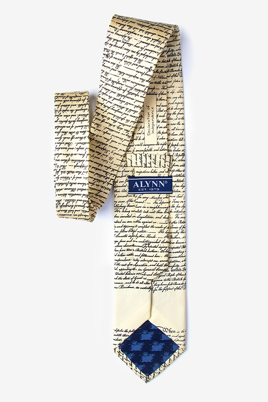 Declaration of Independence Ivory Tie Photo (2)