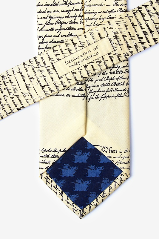 Declaration of Independence Tie