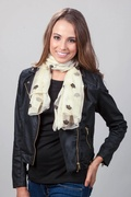 Velvet Crowns Ivory Scarf by Scarves.com