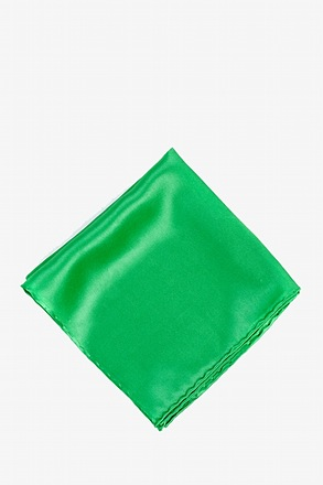 _Kelly Green Pocket Square_
