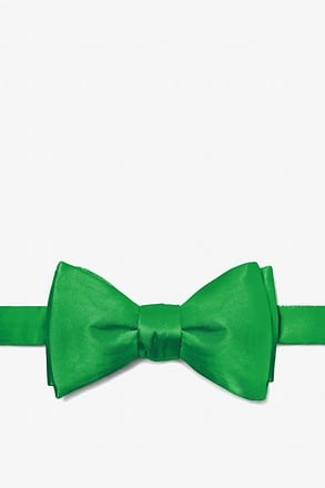 _Kelly Green Self-Tie Bow Tie_