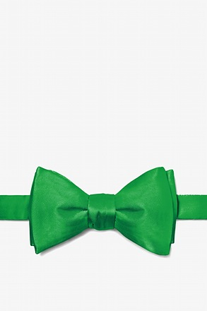 Kelly Green Self-Tie Bow Tie