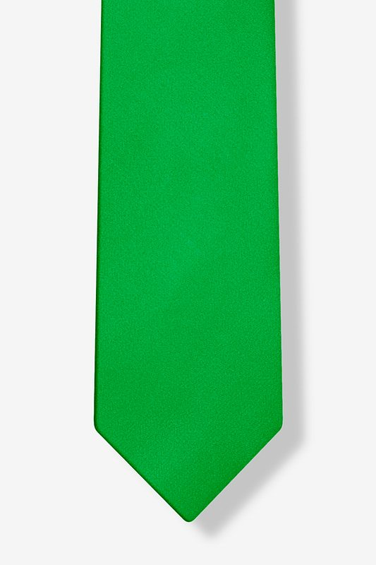 Kelly Green Tie For Boys Photo (3)