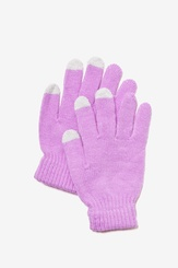 Lavender Acrylic Texting Gloves
