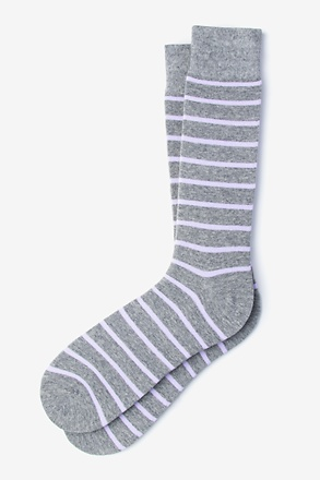 _Virtuoso Stripe Lavender Sock_