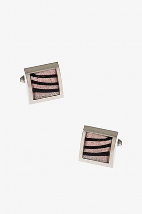 Rounded Framed Square Cufflinks