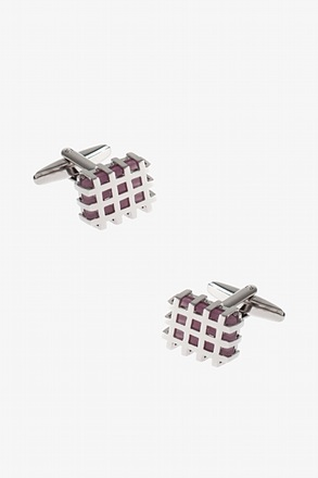 _Squared Jailed Gem Cufflinks_