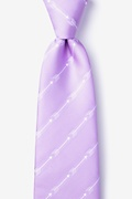 Lavender Microfiber Flying Arrows Extra Long Tie