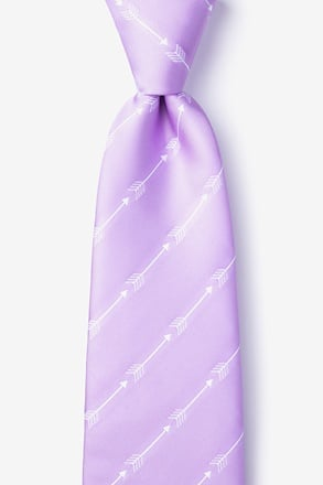 _Flying Arrows Lavender Extra Long Tie_