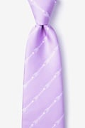 Lavender Microfiber Flying Arrows Tie