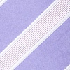 Lavender Microfiber Jefferson Stripe Extra Long Tie
