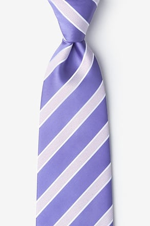 _Jefferson Stripe Lavender Extra Long Tie_