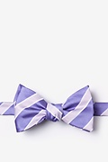 Lavender Microfiber Jefferson Stripe Self-Tie Bow Tie