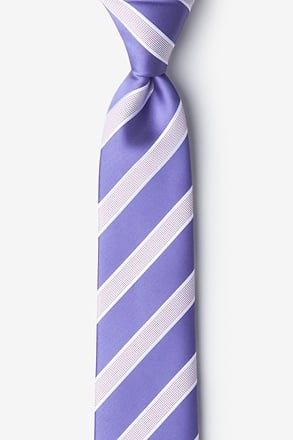 Jefferson Stripe Lavender Tie For Boys