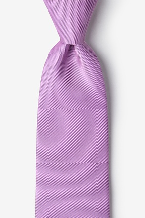 Lavender Textured Extra Long Tie