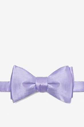 Lavender Butterfly Bow Tie
