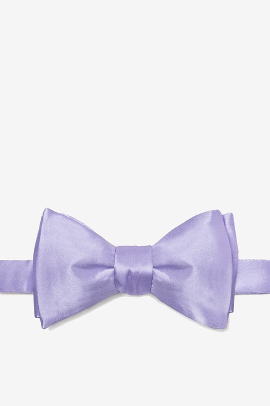 Lavender Self-Tie Bow Tie Photo (0)