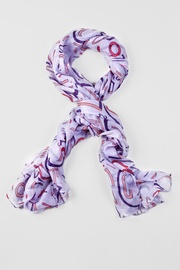 Lavender Viscose What's Your Number Scarf