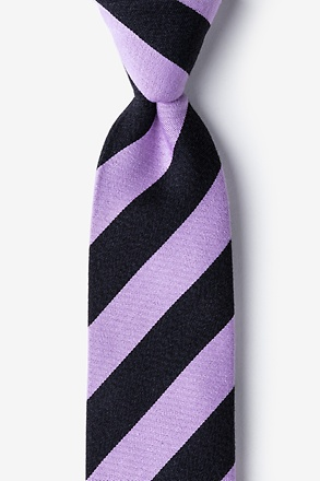 Lavender And Black Rotterdam Stripe Tie