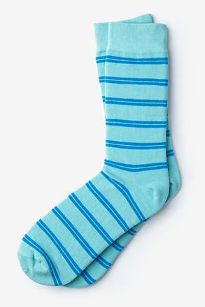Culver Stripe Light Blue Sock