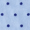 Light Blue Carded Cotton Dana Point Dots Sock