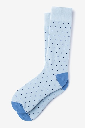 _Dana Point Dots Light Blue Sock_